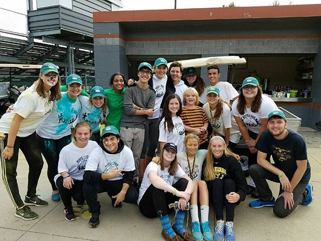 Ethics Forum members with Gus at the 2016 Color Run for Gus