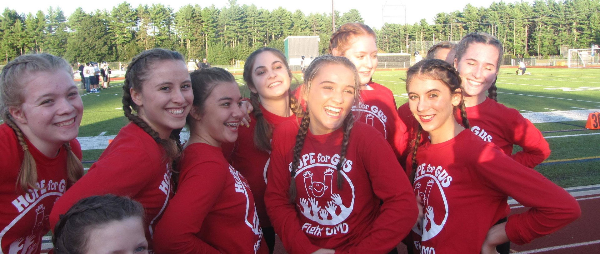 Souhegan's cheerleading team getting ready for the big game!