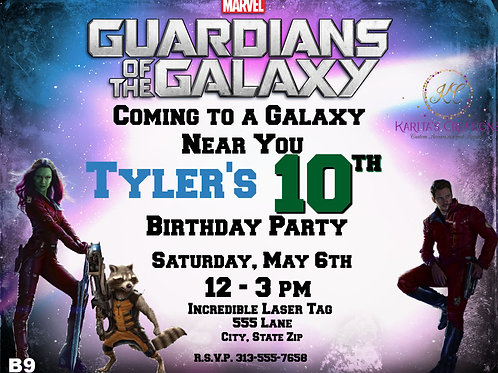Guardians of the Galaxy DIGITAL Invite
