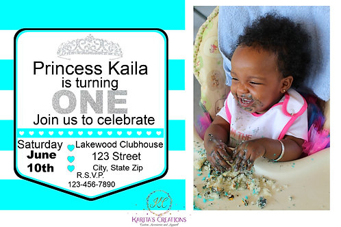 First Birthday DIGITAL Invite