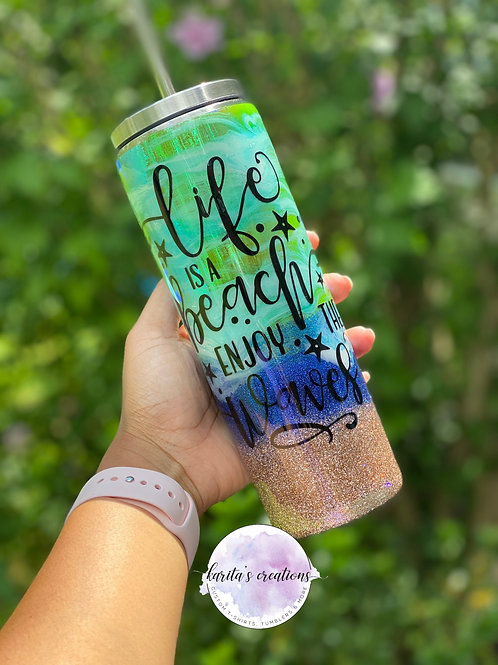 20 oz Beach Theme Tumbler