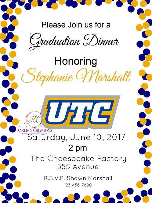 Graduation Dinner DIGITAL Invite