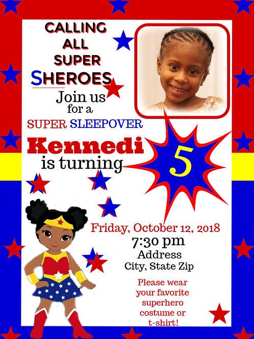 SuperGirl DIGITAL Invite