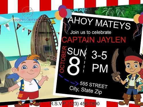 Jake & The Pirates DIGITAL Invite