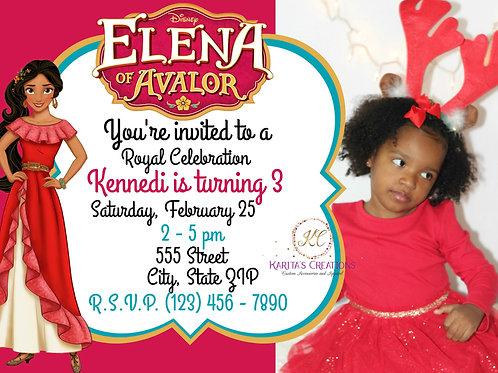 Elena of Avalor DIGITAL Invite