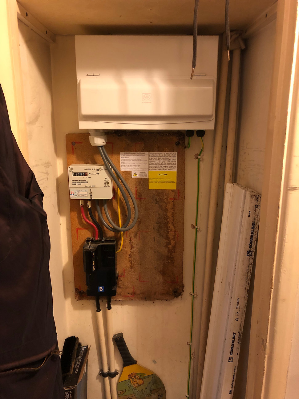 Fusebox In cupboard