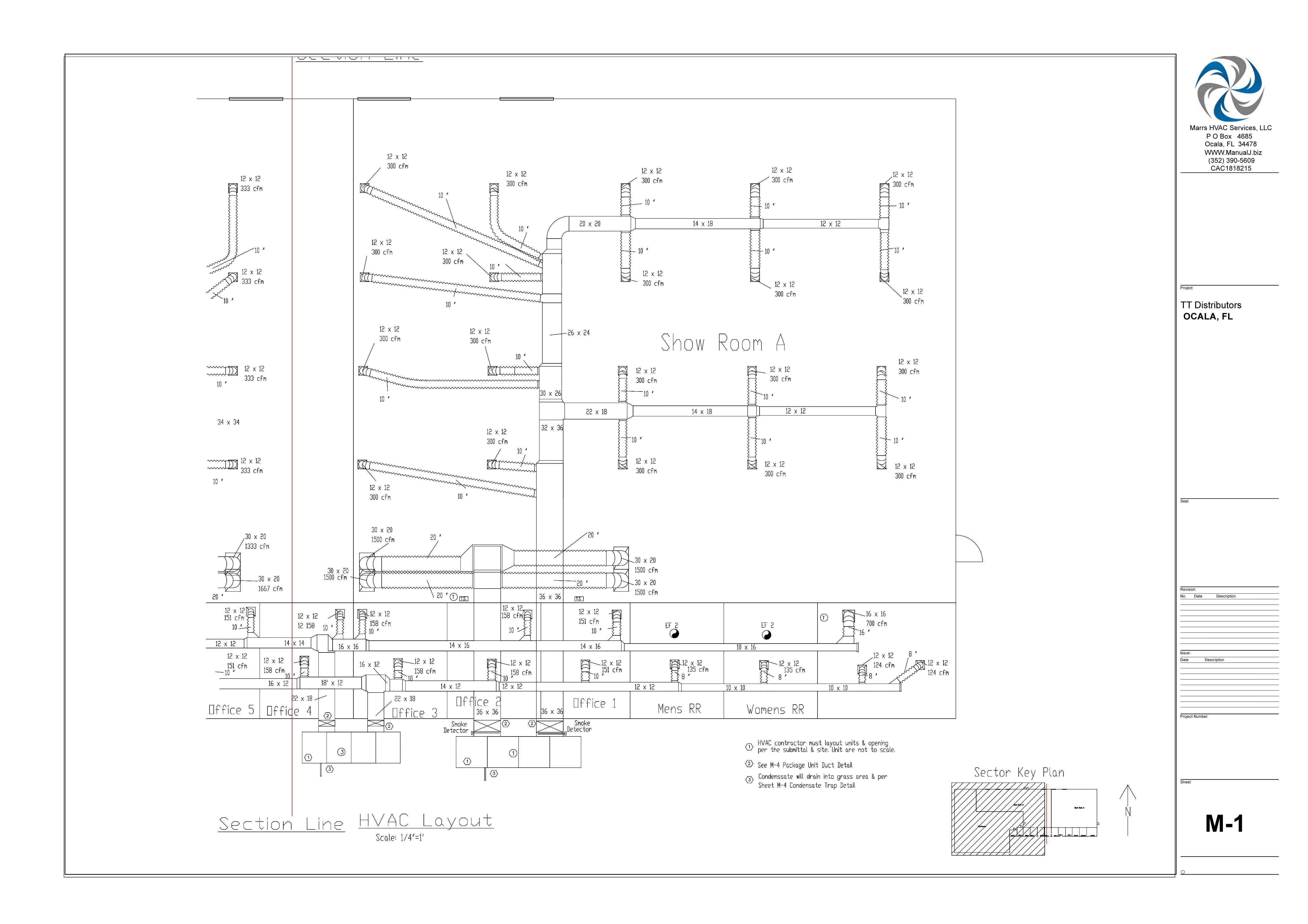 M-1 HVAC Layout
