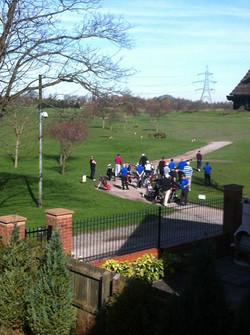Golfers Waiting For KO _ 6am
