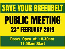 Public Meeting - Sat 23rd February 2019.