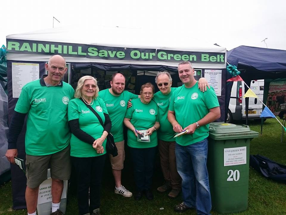 Fabulous fabulous day today at Rainhill Gala and the support shown by ordinary residents totally opposed to the development of greenbelt in Rainhill. Cannot believe the gall of some councillors and the bile they spout!!!! Big thank you to Jess, Kai and Joanne from the Green Party today who came to show their support. Wonderful news to hear the WI have chosen to donate some of their profits from today to our campaign, how fantastic.  The spirit of community and generosity has been overwhelming and humbling today so thank you everybody. Donna