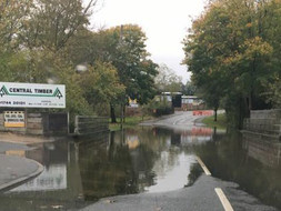 College Street in St Helens, flooded again this weekend during storm 'Brian'.