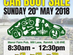 Car Boot Sale - 20th May 2018