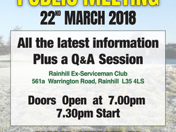 PUBLIC MEETING - 22nd March 2018