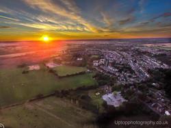 Sunset Over Rainhill Stoops