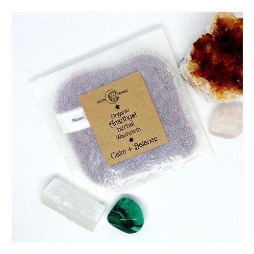 Organic Amethyst (Calm+Balance) Herbal Washcloth