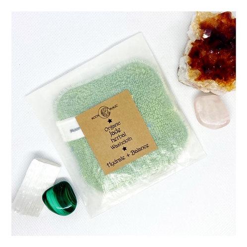 Organic Jade (Hydrate+Balance) Herbal Washcloth