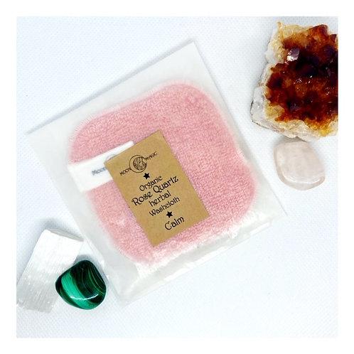 Organic Rose Quartz (Calm) Herbal Cleansing Cloth