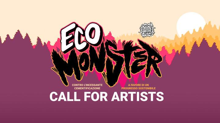 Logo per Eco Monster call for artists di Contemporanea:mente