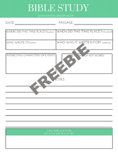 FREEBIE!] Bible Study Template