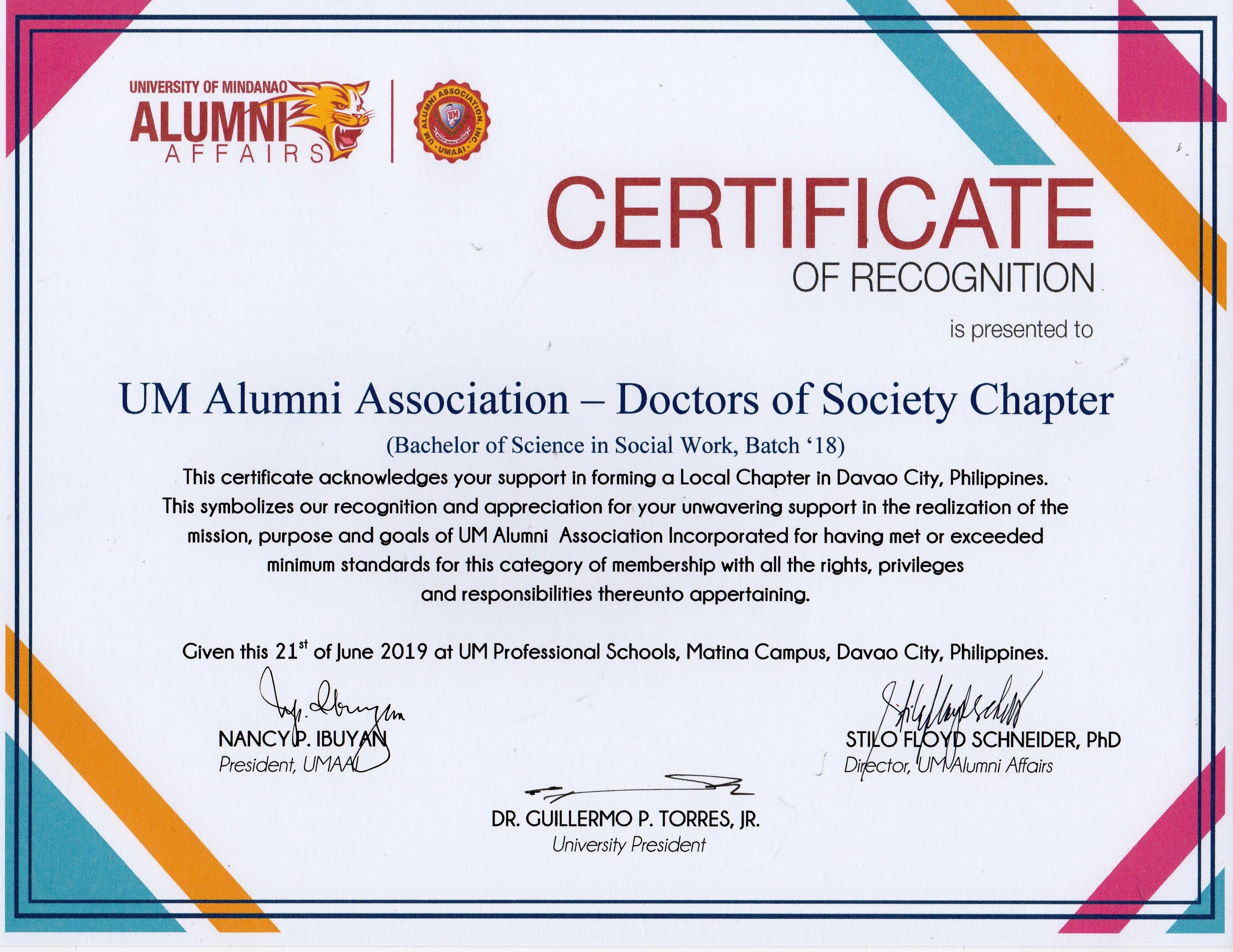 DOCTORS OF SOCIETY654