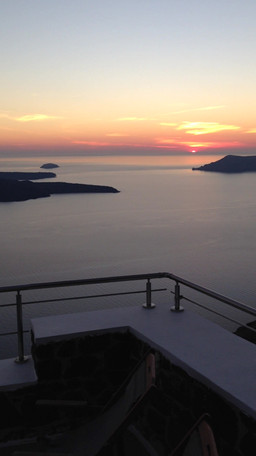 Blissful sunsets in Santorini