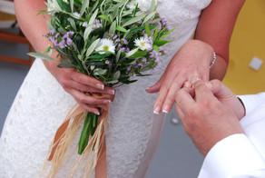 Wedding over the caldera