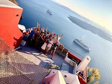 Group accommodation hotel in Santorini