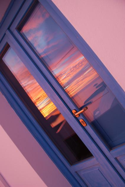 Doors with heaven reflections