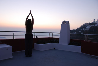 Yoga in your private terrace