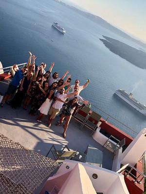 Group accommodation in Santorini