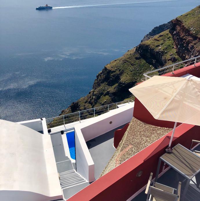 Studio with private terrace in Imerovigli