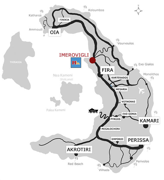 Santorini Map Haras houses