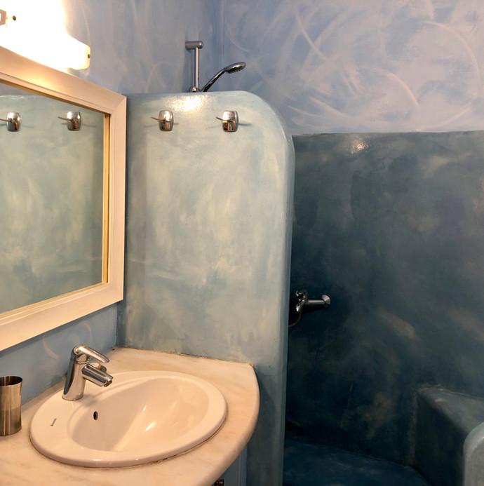 traditional bathroom in Santorini