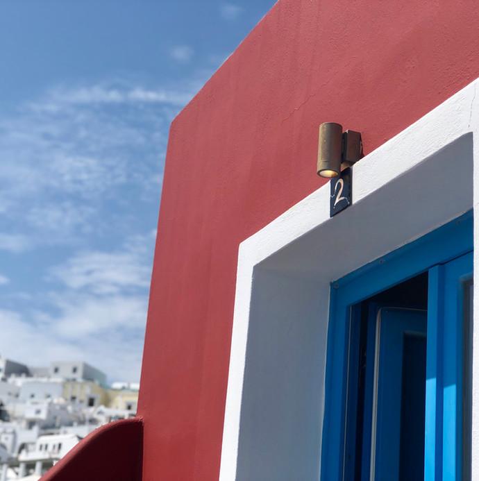 Santorini colors