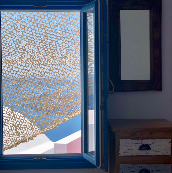 Room with a view in Santorini