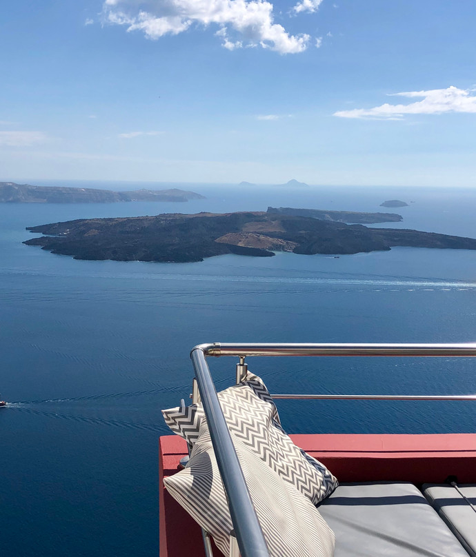 Caldera views from private terrace