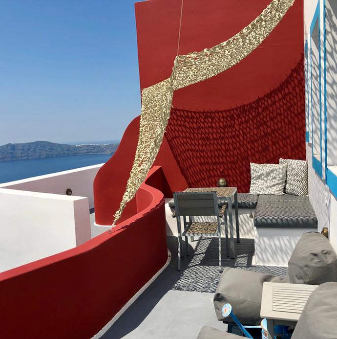 Imerovigli private terrace