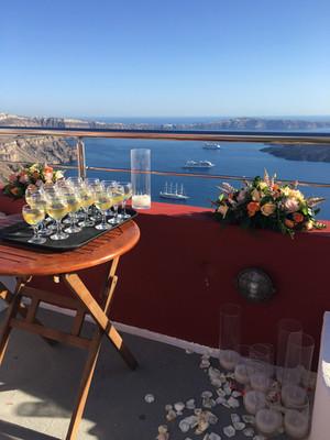 Small wedding venues in Cliff Hotels in Santorini