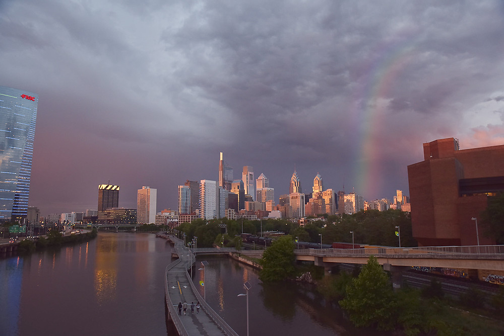 I ran outside after the storm and chased rainbows and stunning skies tonight.