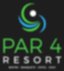 Par4 Resort's Logo with Bistro, Banquets, Hotel, and Golf