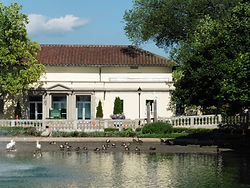 Brookfield Zoo's MacLean Conservation Center in Brookfield, IL is an example of a green renovation project at a historic building.
