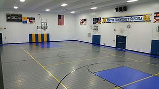 Benton Schools Sport Court gymnasium flooring