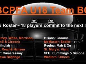 BCPFA U18 Team