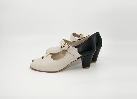 LIZ - Ivory/ Black(US6 6cm)