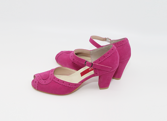 Belle - Fuchsia Pink Suede