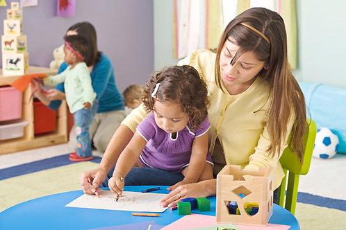 Modèle de FICHE EP1 CAP AEPE activité peinture crèche collective enfant 2,5 ans