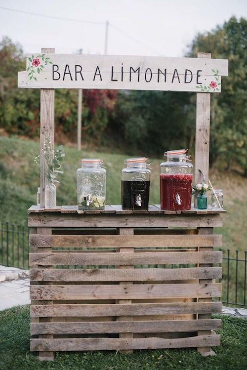 bar limonade mariage