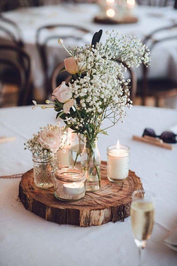 décoration centre table mariage
