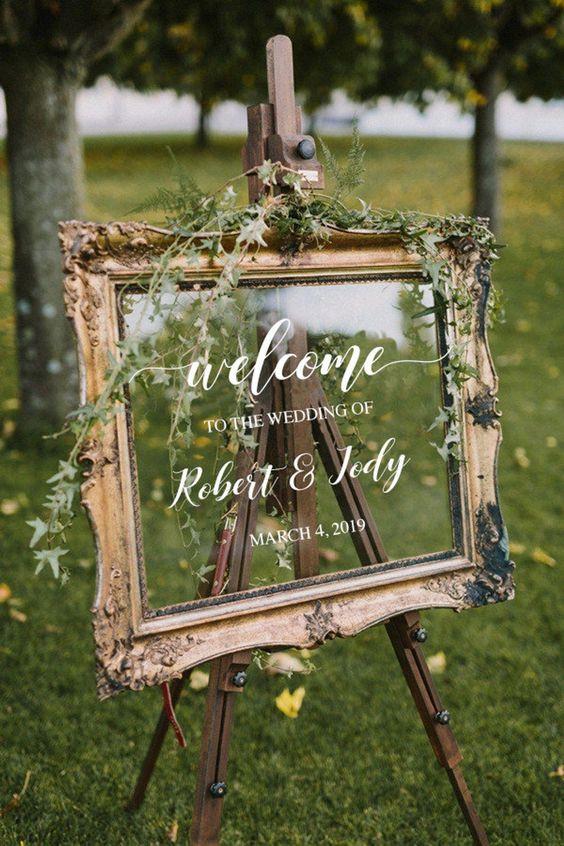 cadre bienvenue mariage