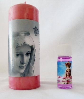 KIT Nª Srª Fátima (Velão + Perfume)